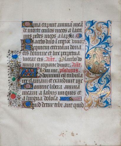 Livre d'heures manuscrit enluminé, 2e moitié...