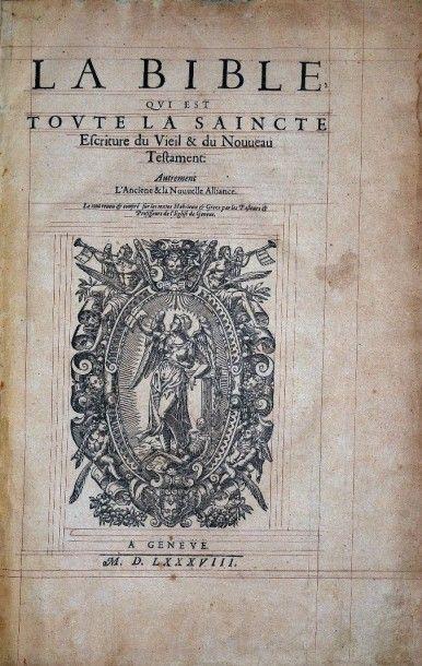 [Bible illustrée. Français. 1588]. La Bible,...
