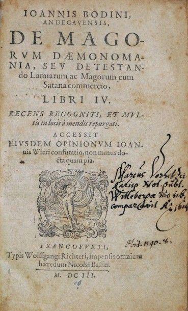 BODIN (Jean). De magorum daemonomania seu...