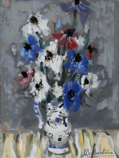 *BABOULENE Eugène (1905-1994).  Fleurs dans...