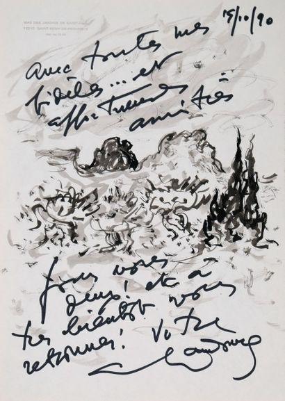 *HAMBOURG André (1909-1999).  Paysage de...