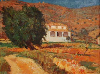 *KLEIN Georges-André (1901-1992).  Maison...