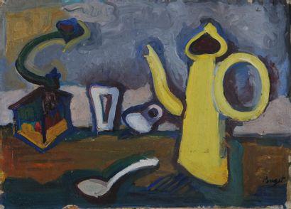 *POUGET Marcel (1923-1985). Né à Oran.  Nature...