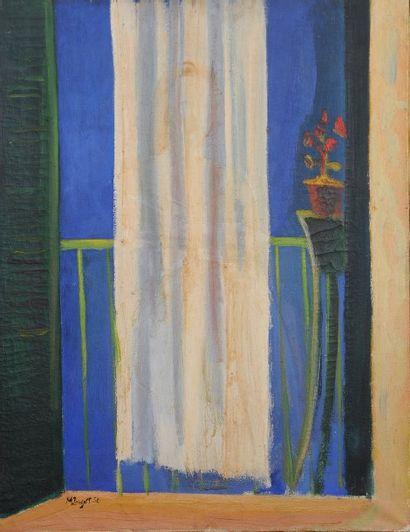 *POUGET Marcel (1923-1985). Né à Oran.  Femme...