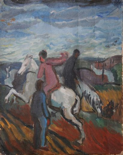 *MARTIN Robert (1915-2002).  Les cavaliers....