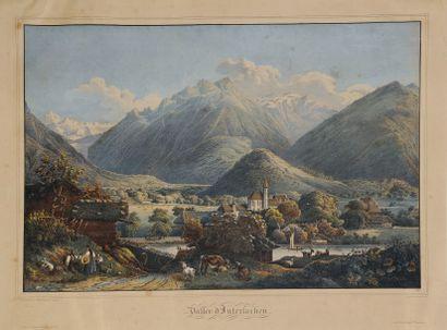 [Suisse]. Vallée d'Interlachen [Interlaken]....