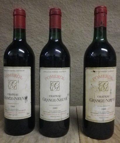 3 Bouteilles Château Grange Neuve - Pomerol,...