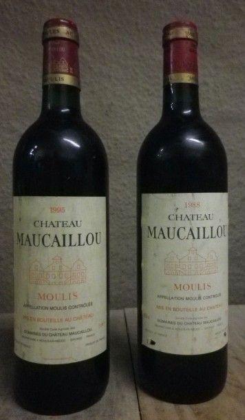 1 Bouteille Château Maucaillou, 1988  Etiquette...