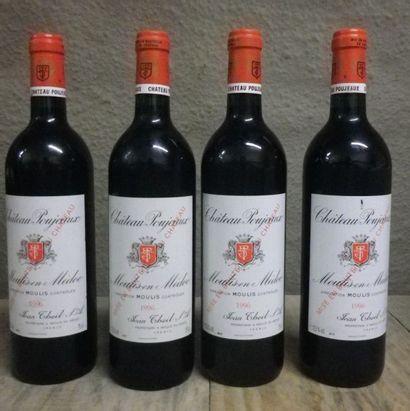 4 Bouteilles Château Poujeaux, 1996