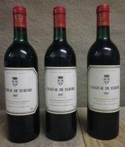 3 Bouteilles Château Du Tertre, 1987  Niveaux...