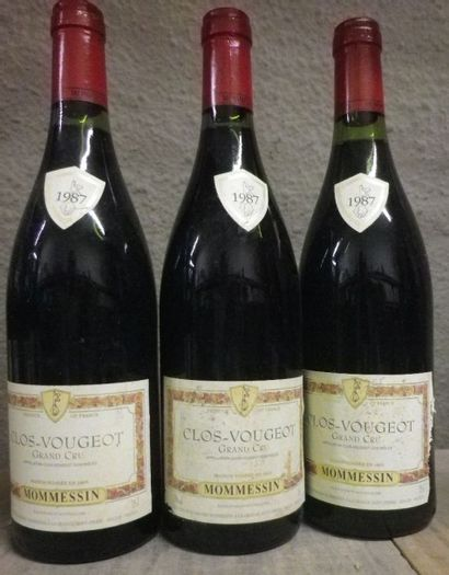 6 Bouteilles Clos de Vougeot - Mommessin,...