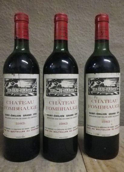 3 Bouteilles Château Fombrauge - St. Emilion,...