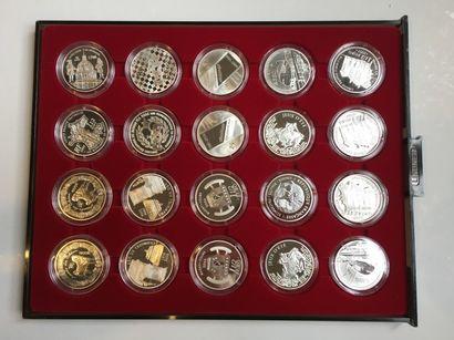 Ensemble de pièces en argent de 2006-2007:...