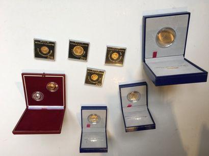 Important lots de pièces en argent :  -3...