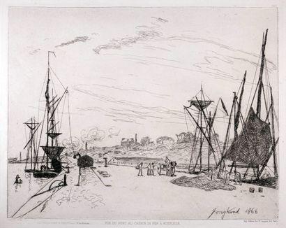 JONGKIND, Johan-Barthold (1819-1891).  Vue...
