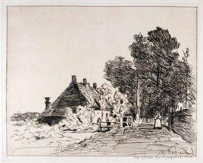 JONGKIND, Johan-Barthold (1819-1891).- [Cahier de six eaux-fortes [sic]. Vues de...