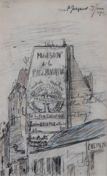 JONGKIND, Johan-Barthold (1819-1891).  Rue...
