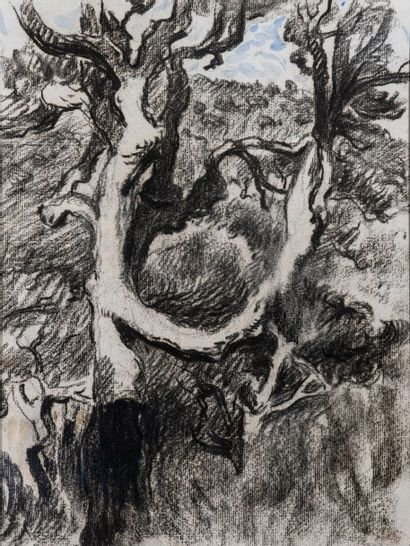 CROSS Henri-Edmond (1856-1910).  Chêne-liège....