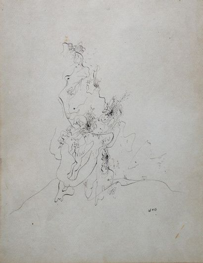 *WOLS Otto (1913-1951), attribué à.  Composition....