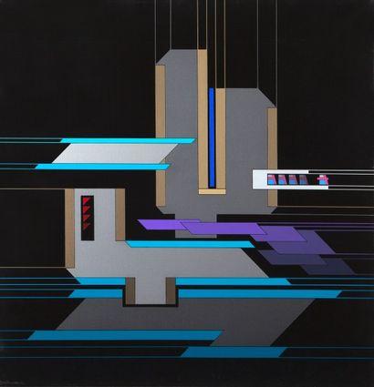 MILLECAMPS Yves (né en 1930).  Composition géométrique.  Huile sur toile signée...