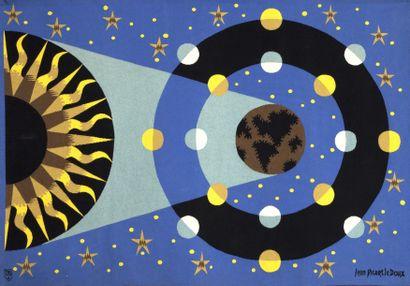 PICART LE DOUX Jean (1902-1982).  Systéme solaire.  Tapisserie, atelier de Raymond...
