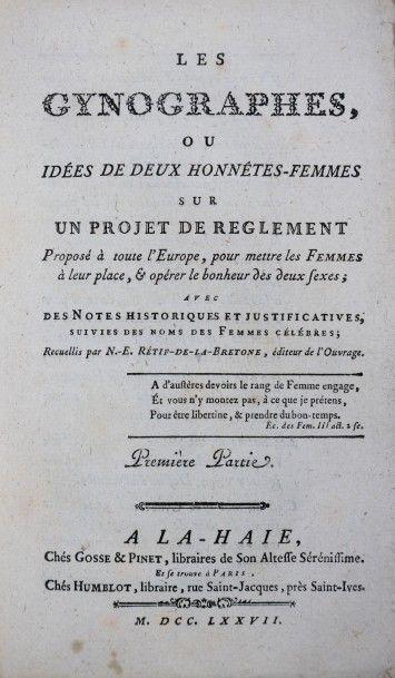 [RETIF DE LA BRETONNE (Nicolas-Edme)]. Les...