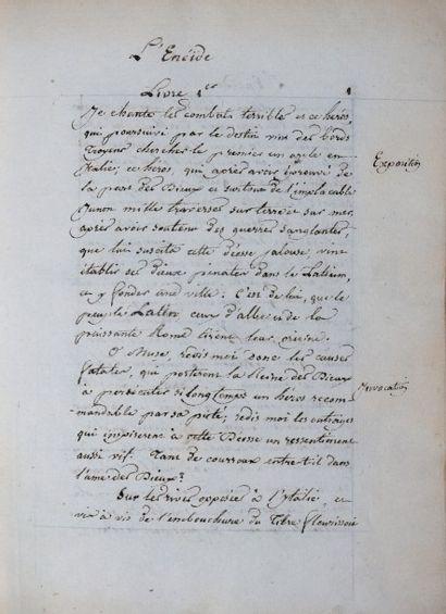 [Manuscrit]. VIRGILE. L'Enéïde. Manuscrit,...