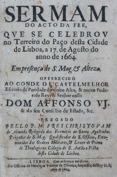 [Inquisition]. [Portugal]. ALMEIDA (Cristovao...
