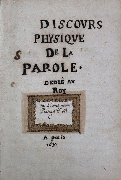 [Manuscrit]. [Philosophie]. CORDEMOY (Géraud...