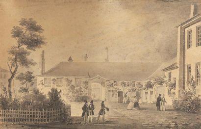 Ferdinand BOURJOT (1768-Ca 1840). Vue de...