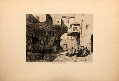Charles LONGUEVILLE (1829-1899). - Une rue...