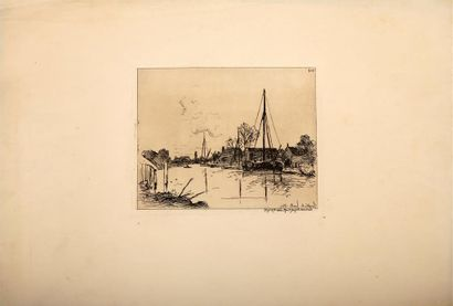Johan-Barthold JONGKIND (1819-1891). Maisons...
