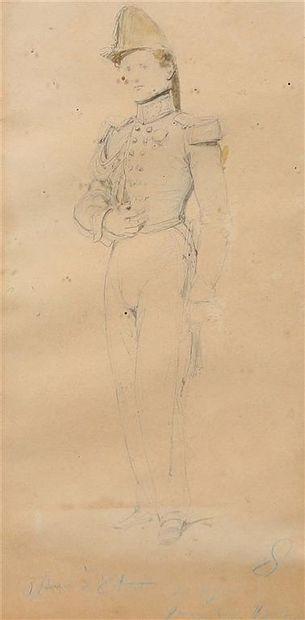 Ecole du XIXème siècle. Portrait d'un officier...