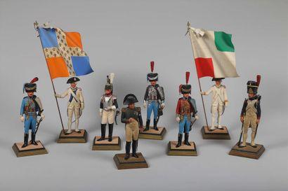 FOUILLÉ, 1780, porte drapeau du régiment...
