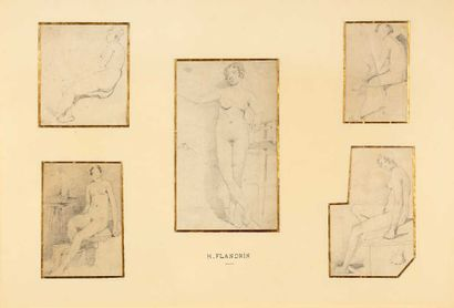 attribué à Hippolyte FLANDRIN (1809-1864)....