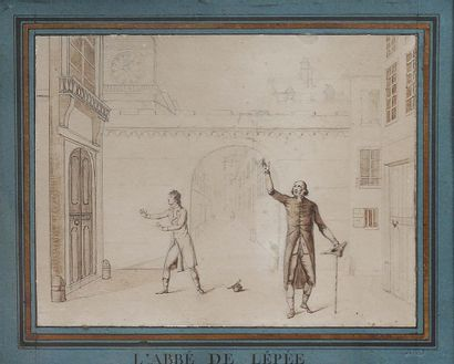 Ecole française du XIXème siècle. L'abbé...