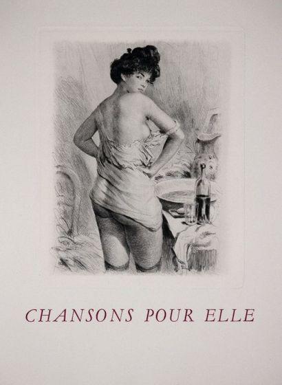 BÉCAT. VERLAINE (Paul). Chansons pour Elle...