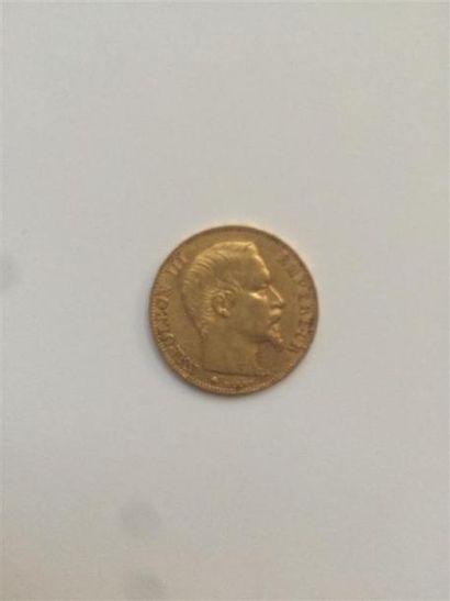 1 X 20 Francs NAPOLEON TETE NUE, 1856. Poids...