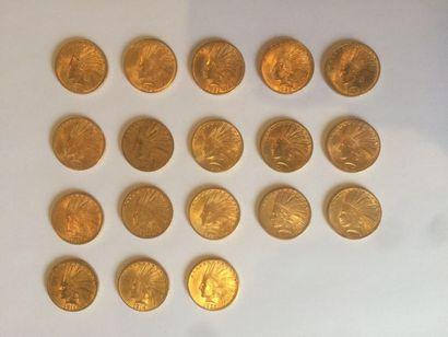 1 x 10 dollars Indien, 1908. 1 x 10 dollars...