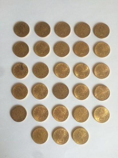1 x 10 dollars Liberté, 1859. 1 x 10 dollars...