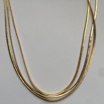 Collier en or (750/1000) de trois tons à...