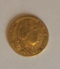1 x 20 francs Louis XVIII buste nu, 1819,...