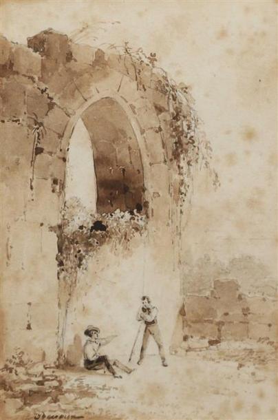 École FRANÇAISE du XIXe siècle. Paysages...