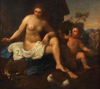 Attribué à Jacob Van LOO (1614-1670). Venus...