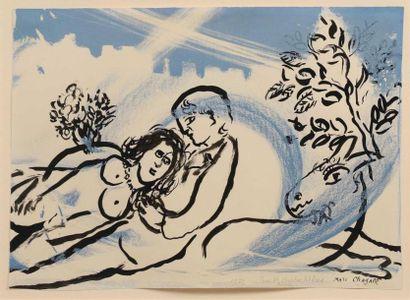 ** Marc CHAGALL (1887-1985). Les amoureux....
