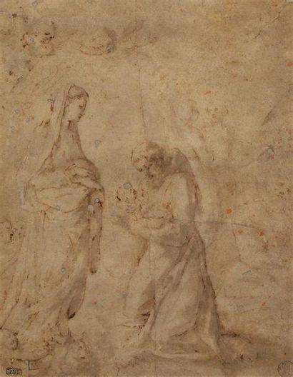 École SIENNOISE vers 1600. Saint François...