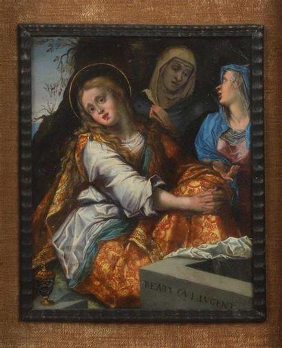 École FLAMANDE du XVIIe siècle. Les saintes...
