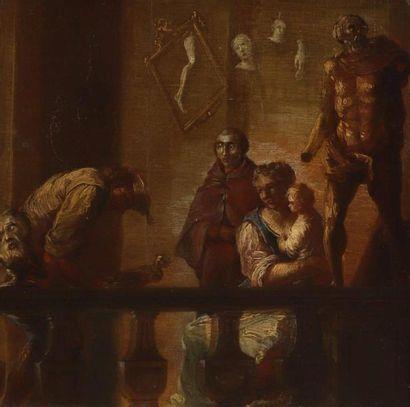 École VÉNITIENNE du XVIIIe siècle. L'atelier...