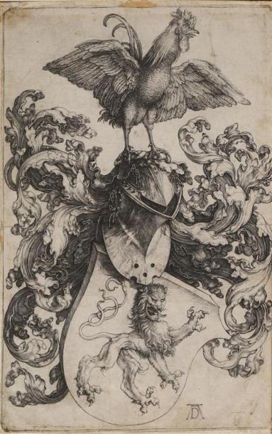 Albrecht DÜRER (1471-1548). Armoiries aux...