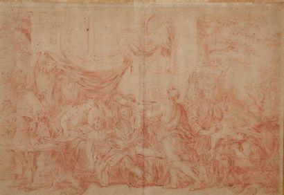 École FRANÇAISE vers 1700. La mort de Méléagre...